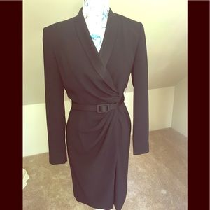 🌹Tahari small black wrap dress